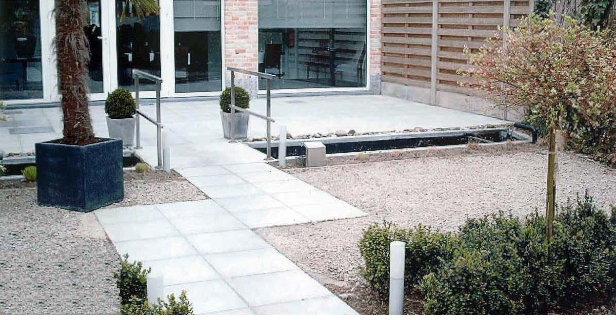 Betondallen terras de wandeleer pierre naturelle for Carrelage 90x45