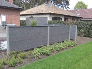 tuinscherm graniet zwart
